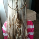 Valentines Day Hairstyle/ Twist Braid Heart