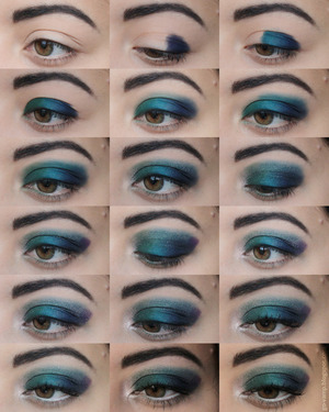 1. First, apply your eyeshadow base. You want your eyelook to stay on all day/night!