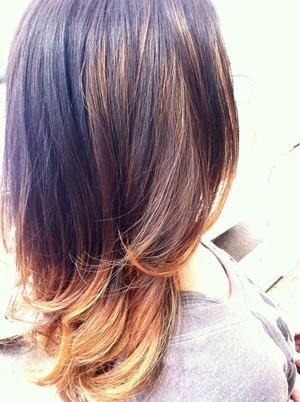 Long, ombré hair, don't care 💁