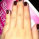 my glittery nails