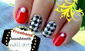 Houndstooth Inspired Nail Art!