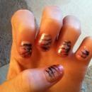 kinda zebra nails :)