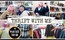 THRIFT WITH ME 🌻 Plus Size Try On + Haul