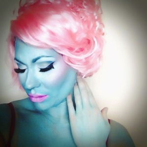 Inspiration for this look was from Nicki Minaj on the front cover of Vogue