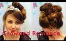 Crowned Romance:High Side Hair Bun Tutorial for Christmas/New Years Parties