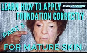 Learn How To Apply Foundation Correctly For Mature Skin | mathias4makeup