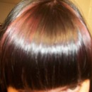 My new purple dyed bangs
