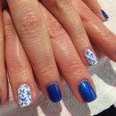 Red Carpet Manicure, blue flowers