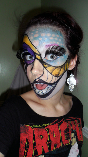 Face Paint look, makeup by me; contest entry for YouTube. http://www.youtube.com/watch?v=j-srnluCiuA&feature=relmfu