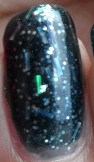 I've already posted a swatch of this nail polish, but I decided to post another swatch of it super close up.  This is two coats of BB Couture Vivian.
