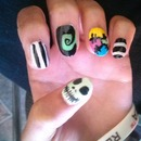 Nightmare Before Christmas Halloween Nails
