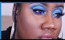 Blue Monochromatic Makeup Tutorial