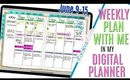Digital Plan with me this week June 9 to 15, How i'm Setting Up Weekly Digital Plan With Me June 9