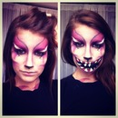 Cheshire Cat Inspired Halloween Makeup | Lemonrevolution