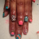 latest full set of nails done by me!!
