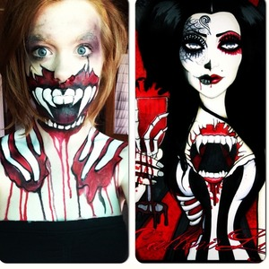 I LOVE callowlily artwork!! This is a twisted vampire look :)