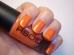 GOSH nail polish in Peachy.  Two coats.