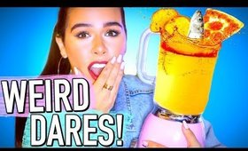 Smoothie Challenge gone WRONG! Completing WEIRD dares!