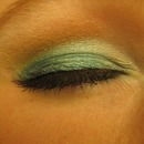 Blue, green and brown look