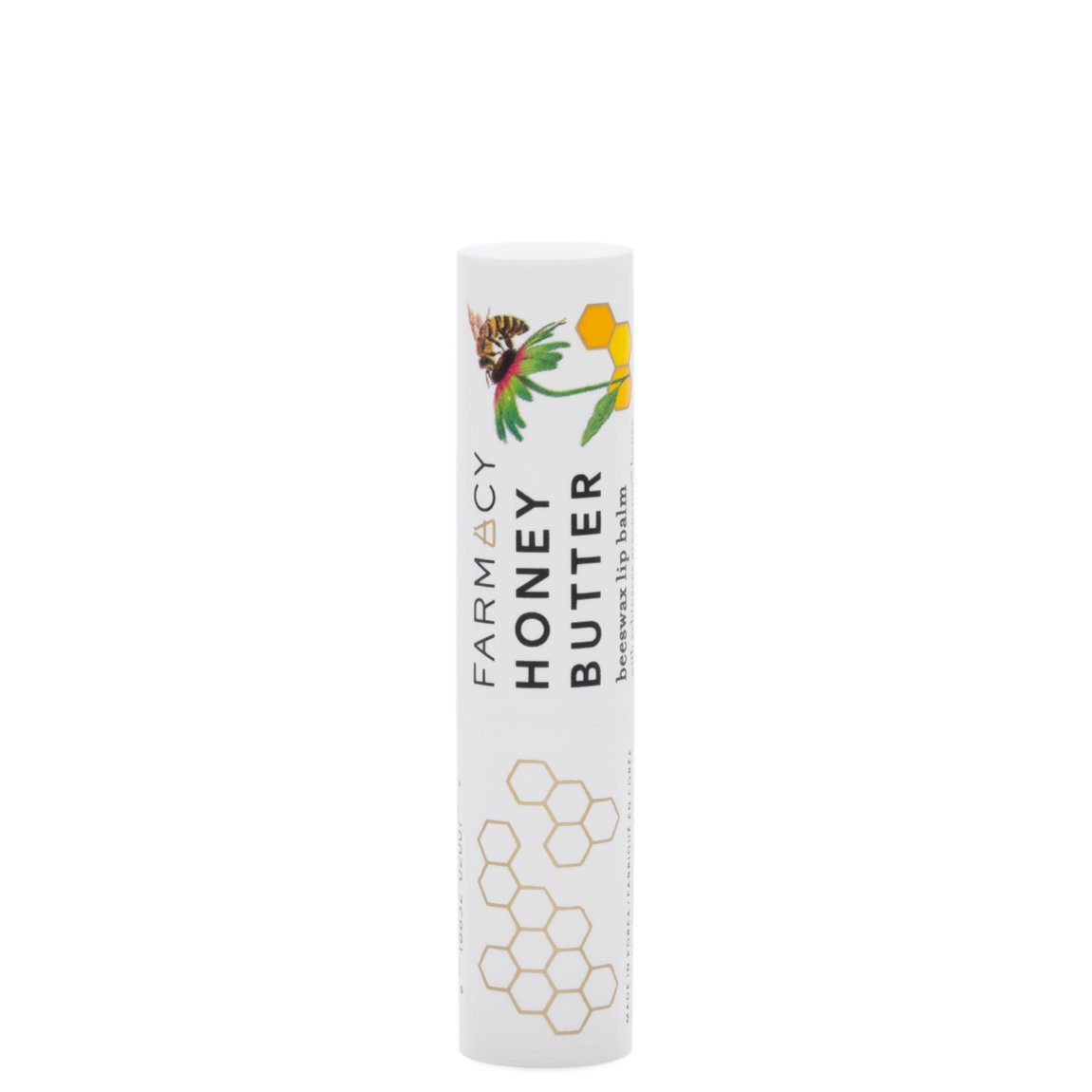 Farmacy Honey Butter Beeswax Lip Balm product smear.
