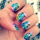 rainbow leopard & zebra print