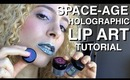 Space-age Holographic Cyber Lip Art Tutorial