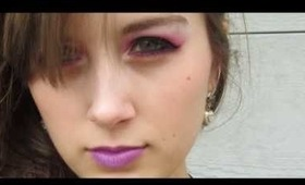 Tanaka Reina 田中れいな  - Rock no Teigi Rock の定義 MV inspired makeup.