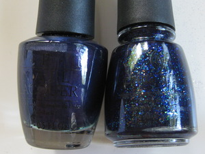 opi russian navy / china glaze meteor shower