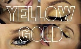 Simple Gold Makeup