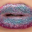 Ombre Glitter Lips