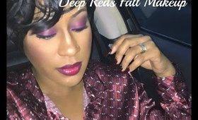GRWM | Deep Reds Fall Makeup Tutorial