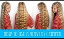 HOW TO USE A WAVER/CRIMPER HOT TOOL! 🔥