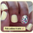 Pale Yellow & Dots