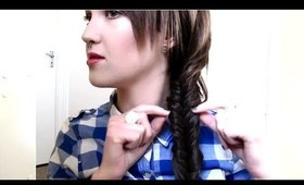 Fishtail braid tutorial (with extensions in)