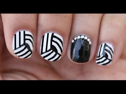 Easy Optical Illusion Nail Art!! | xoJahtna Video | Beautylish