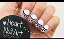 EASY Heart Nail Art for Valentine's Day!