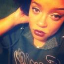 Dark lip with golden eye