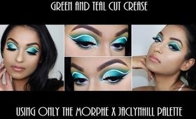 Green and Teal Cut Crease | Morphe X JaclynHill Palette | Divine Beauty By Sathi