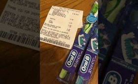 Free toothbrushes at Walgreens