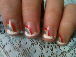 Rainbow nails inspired by YouTube cutepolish