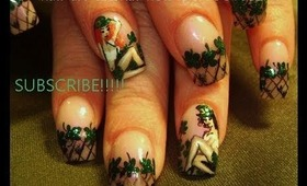 St. Patrick's Day Pin-up girl: robin moses nail art tutorial