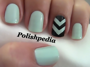 I really love how this accent nail turned out!  Watch My Video Tutorial: http://www.polishpedia.com/chevron-accent-nails.html