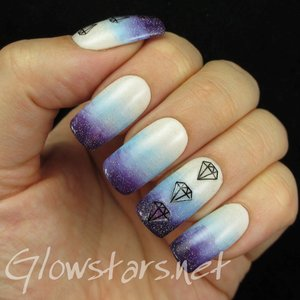 Read the blog post at http://glowstars.net/lacquer-obsession/2014/09/a-gradient-with-jewel-nail-art-stickers/