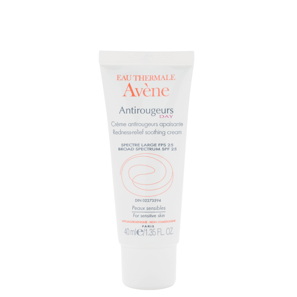 Eau Thermale Avène Antirougeurs Day Redness Relief Soothing Cream SPF 25 product smear.