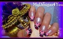 PINK, PURPLE & WHITE FRENCH, TUTORIAL, HOW TO - ♥ MyDesigns4You ♥