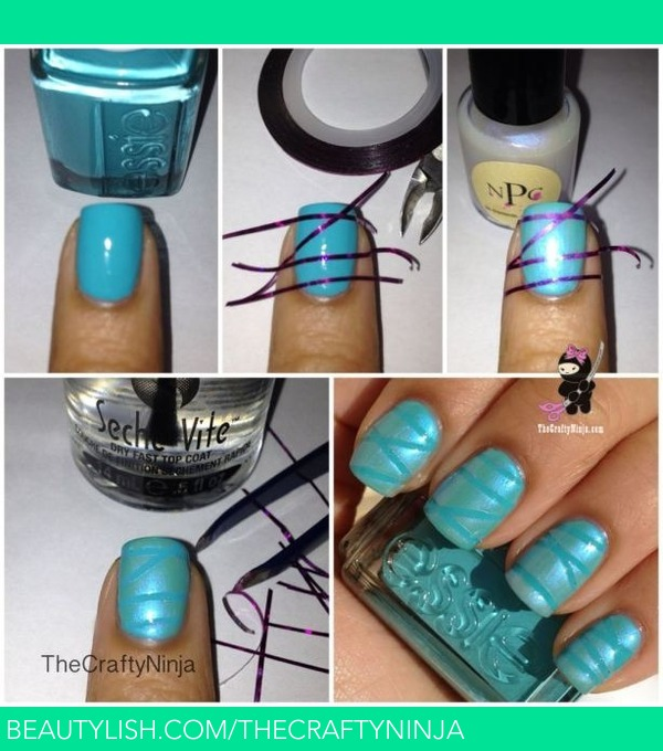 Striping Tape Nail Art Tutorial: How To Use Nail Striping Tape