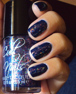 A flakie nail polish turns an ordinary nail color to extra-ordinary! Cult Nails nail polishes in Time Traveler and Clairvoyant.