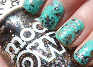 Using Barry M in Greenberry and Models Own in Ibiza Mix