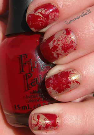 China Glaze Fast Track and Finger Paints Signed In Wine