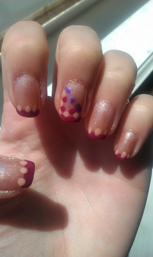 Purple Tips With Dots. :)